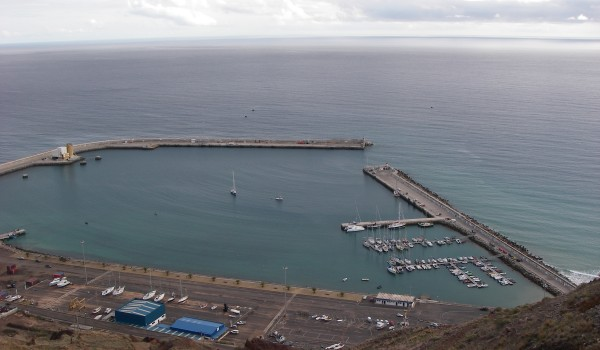 Porto Santo harbour and marina